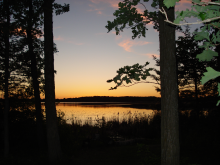 View of Cedar Lake at Camp Courage - sunset
