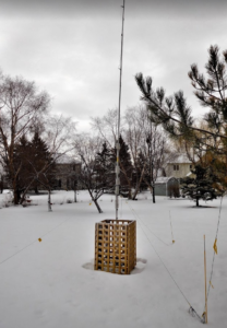 HF9V vertical antenna in the winter
