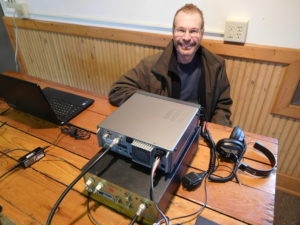 Pat, WA0TDA, at HF station during special event