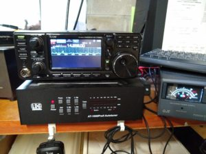 The W0ZSW station with IC-7300 & LDG tuner